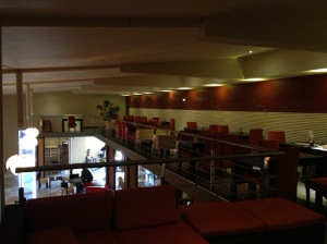 A View of the upstairs restaurant seating area (thanks CJ)