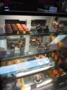One of the Showcases of Pastries and Cupcakes
