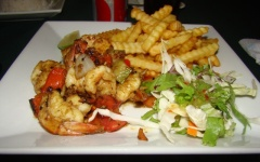 007 - DSC00123a - Sauteed Shrimp & Fries