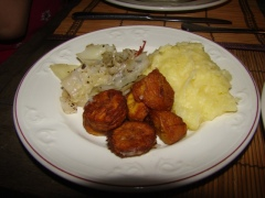 Mashed Potatoes, Plantains & Vegetables