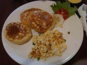 Pancakes & Scrambled Eggs