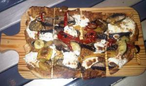 Whole Wheat Crust, Roasted Veg PIzza