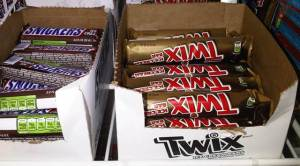 Snickers and Twix Ice Cream Bars