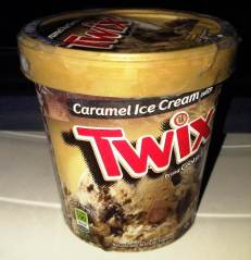 A Tub of Twix Caramel Ice Cream... YUM!