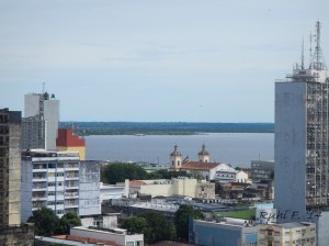 View of Rio Negro, from our 10th floor hotel room