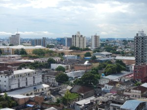 A view of the city of Manaus, from our hotel room