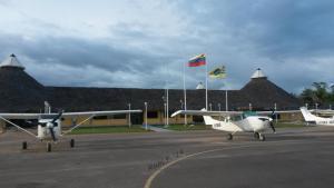 Santa Elena de Uairén Airport, Venezuela; the border airport...