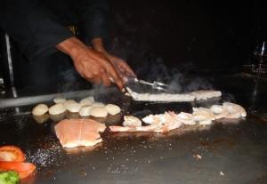 Teppanyaki Salmon, Scallops and Imperial Shrimp