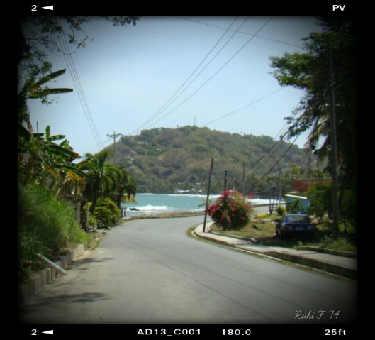 Descending the winding Coastal Road though the Southern part of Tobago