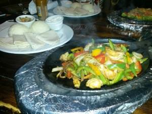 Cajun Shrimp Fajitas