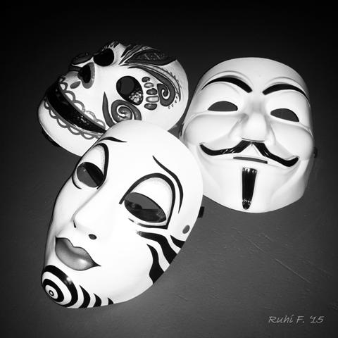 a collection of faces... the masks we wear