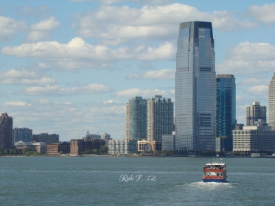 A view from the Staten Island Ferry