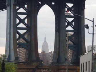 Empire State Building... through the Manhattan Bridge